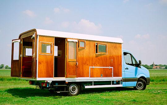caravan to Holland