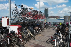 Bicycle racks at Amsterdam Centraal