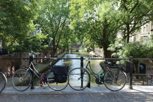Iconic Amsterdam: bikes and canals