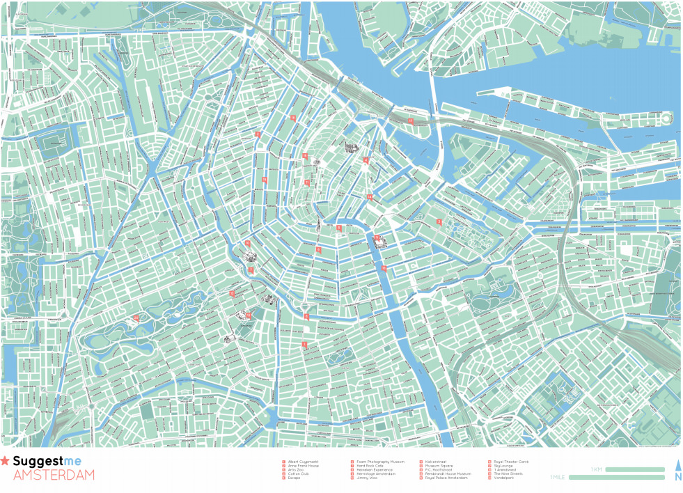 An example of a Suggestme Amsterdam map - head here to view in detail: http://suggestme.com/images/press/cityguides/personal_map_amsterdam.pdf